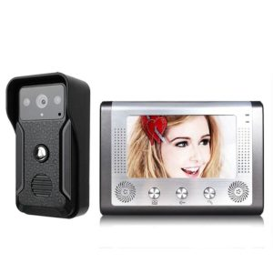 Mountainone One to One Video Intercoms kit Video Door Phone Doorbell 1 Camera Night Vision 1 Monitor 7 Inch for Home security
