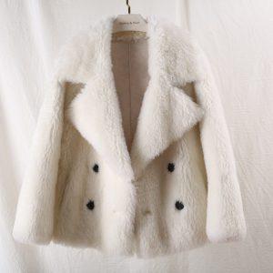 OFTBUY 2020 Winter Jacket Women Casual 100% Real Fur Coat Thick Warm Sheep Shearing Outwear Female Fashion Streetwear Korea New