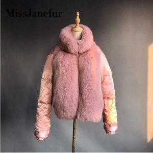 New brand winter true natural fox fur coat thick silver fox women's jacket fox fur coat collar