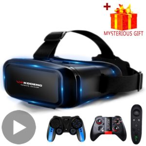 3D VR Headset Virtual Reality Smart Glasses Helmet for Smartphones Mobile Cell Phone with Controllers Lenses Goggles Binoculars