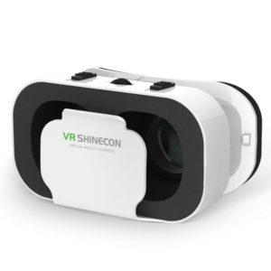 3D VR Headset Smart Virtual Reality Glasses Helmet for Smartphones Phone Lenses 5-7 Inches Binoculars (White)