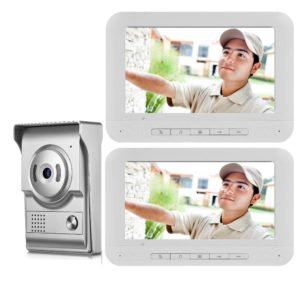 7 Inch Wired Video Doorbell Door Phone Intercom Rainproof Camera Visual Home Security System + 2 Screen Monitors  Free Shipping