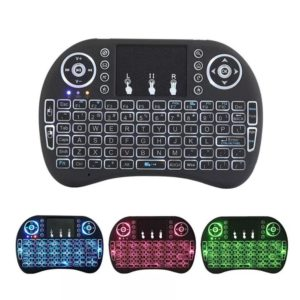 I8 Portable Mini Wireless Keyboard 2.4Ghz English Colorful Backlight Air Mouse with Touchpad Remote Control  for TV BOX Android