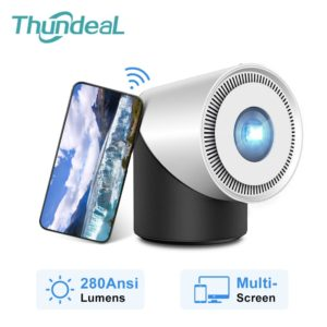 ThundeaL Mini DLP Projector 280Ansi Portable HD Projetor Android IOS Smart Phone WiFi Multiscreen Active Shutter 3D Proyector