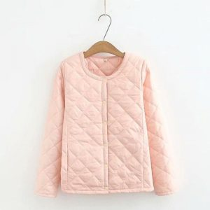 Plus Size Women's Light Winter Coats Warm Slim Jackets Female Solid Oversized Outwear