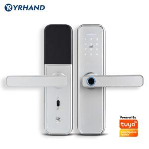 New X5  Waterproof Tuya Biometric Fingerprint Lock, Security Intelligent Smart Lock With WiFi APP Password RFID Door Lock