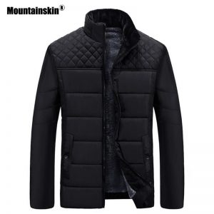 Moutainskin Winter Men Parka Coats Warm Fleece Cotton Jackets Thermal Thick Male Casual Snow Coat Mens Brand Clothing SA840
