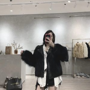 OFTBUY 2020 New Real Fur Coat Winter Jacket Women Natural Fox Fur Genuine Leather Outerwear Streetwear Thick Warm Luxury Brand