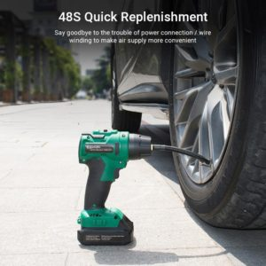 Cordless Air Compressor Tire Inflator 2000mAh Rechargeable Portable Car Air Pump with Digital Pressure Gauge 140 PSI Tire Pump