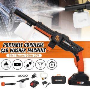 GUANXIN 20V Auto Portable High Pressure Washer Machine Power Washer Cordless Washer Gun With Foam Generator Nozzle Water Pump