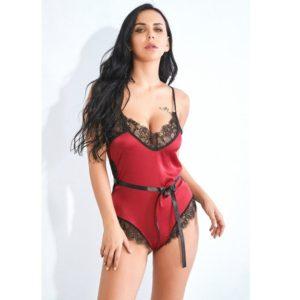 Sexy Summer Lace Pajamas Sleepwear for Women Sleeveless Spaghetti Strap Pyjamas Satin Teddy Lingerie Bodysuit Nightwear &&B