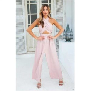 2019 Rompers Womens Jumpsuit Sexy Casual Playsuits Backless Pink Summer Playsuits Plus Size