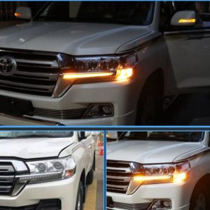 LED light System Chrome Front Grille Lamp Trunning light For Toyota Land Cruiser 200 FJ200 LC200 Accessories 2016 2017 2018