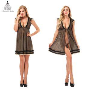 Sleepwear Home wear Lingerie Sexy Women Pajamaes Sets Suit Negligee Women Summer Fancy  Robe Dressing Bathrobe Female sexy