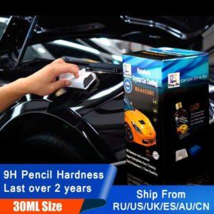 Rising Star RS-A-CCS01 Liquid Glass 9H Nano Hydrophobic Ceramic Coating Car Care Wax Crystal Car Coating 30Ml Kit for Demo Test