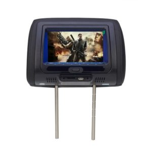 Car Pillow LCD Screen Car Rearview Monitor Car Headrest Monitor DVD Monitor Game Player Monitors with DVD USB SD IR FM 7 inch