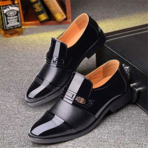 new italian black formal shoes men loafers wedding dress shoes men patent leather oxford shoes for men chaussures hommes en cuir