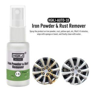 HGKJ-18-20ml 1PCS 5*5*3cm Car Paint Wheel Iron Powder Rust Remover Auto Window Cleaner Car Cleaning Automotive Car Accessories