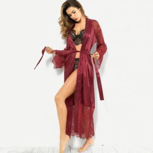 2019 пижама Women Robes Kimono Satin Sleepwear Pyjamas Sexy Pajamas Silk Night Gown Bride Wedding Robe Nightdress Bathrobe Home