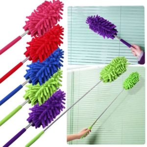 1 x Dust Shan Telescopic Microfibre Duster Extendable Cleaning Home Car Cleaner Dust Handle Dropshipping Aug#1