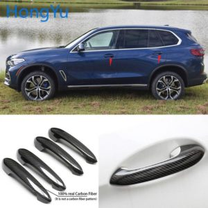 for BMW x5 G05 M50i xDrive40i xDrive30d xDrive 30i 40i 2019 2020 100% real carbon fiber Auto outer door handle cover