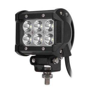 Car Motorcycle Tractor Boat LED Work Light 18W LED Bar Light for Off Road 4x4 Truck SUV ATV Fog Lamp 12V Led Spotlight Kit