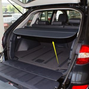 Car Rear Trunk Security Shield Shade Cargo Cover For Renault Koleos 2009 2010 2011 2012 2013 2014 2015 (Black