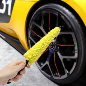 Car Accessories Interior Car Wheel Washing Brush Plastic Handle Vehicle Wheel Rims Tire Cleaning Brush Car Brush Washing Tools