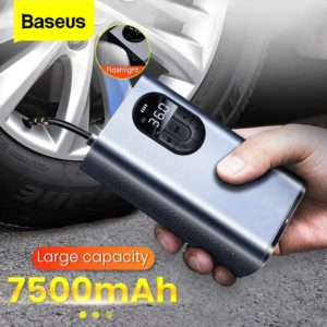 Baseus 7500mAh Car Air Compressor 12V Portable Electric Tyre Tire Inflator Mini Auto Air Inflatable Pump For Car Bicycle Boat