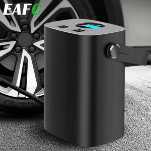 Rechargerable Car Tire Inflator Handle Wireless Car Air Compressor Pump 150PSI Portable for 12V Car Motorcycles Bicycles