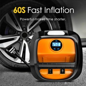 12V Air Compressor Car Tyre Inflator Mini Electric Auto Car Air Pump 150 PSI Car Air Compressor for Auto Car Motorcycles Bicycle