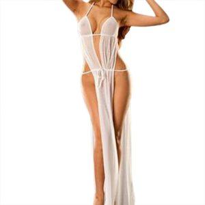 Sexy lingerie pajamas for women kigurumi home clothes nightie Babydoll Sleepwear Underwear Long Dress Nightwear +Briefs h5