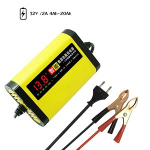 Car Motorcycle Battery Charger 12V 2A Full Automatic 3 Stages Lead Acid AGM GEL Intelligent LCD Display Charging Car Accessories